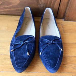 Talbots Navy Blue Francesca Bow Loafers